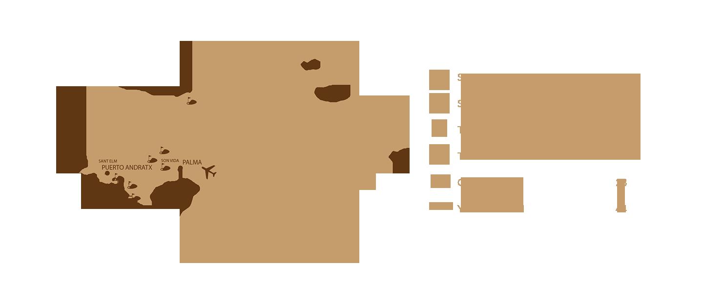 Mallorca Karte Umriss.Mallorca Prime Im Paradies Zuhause